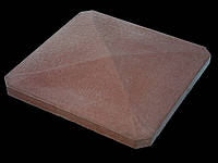 Крышки на забор «ПРЯМА скошенные углы» 480х480, мм. цвет коричневый, высота 60мм, вес 24 кг.