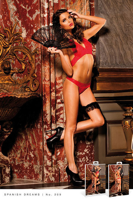 Комплект Red Lace Bikini Set