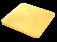 Крышки на забор «ПРЯМА скошенные углы» 480х480, мм. цвет жёлтый, высота 60мм, вес 24 кг.