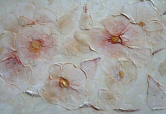 Декорирование в Харькове.Декоративная штукатурка цветы