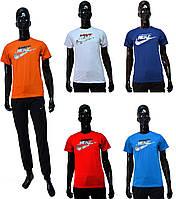 Мужская спортивная футболка Nike 193-01 оранжевого цвета
