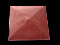 Крышка на столбик кирпичный «ПРЯМА» 380х380 мм. цвет красный, вес 17 кг.
