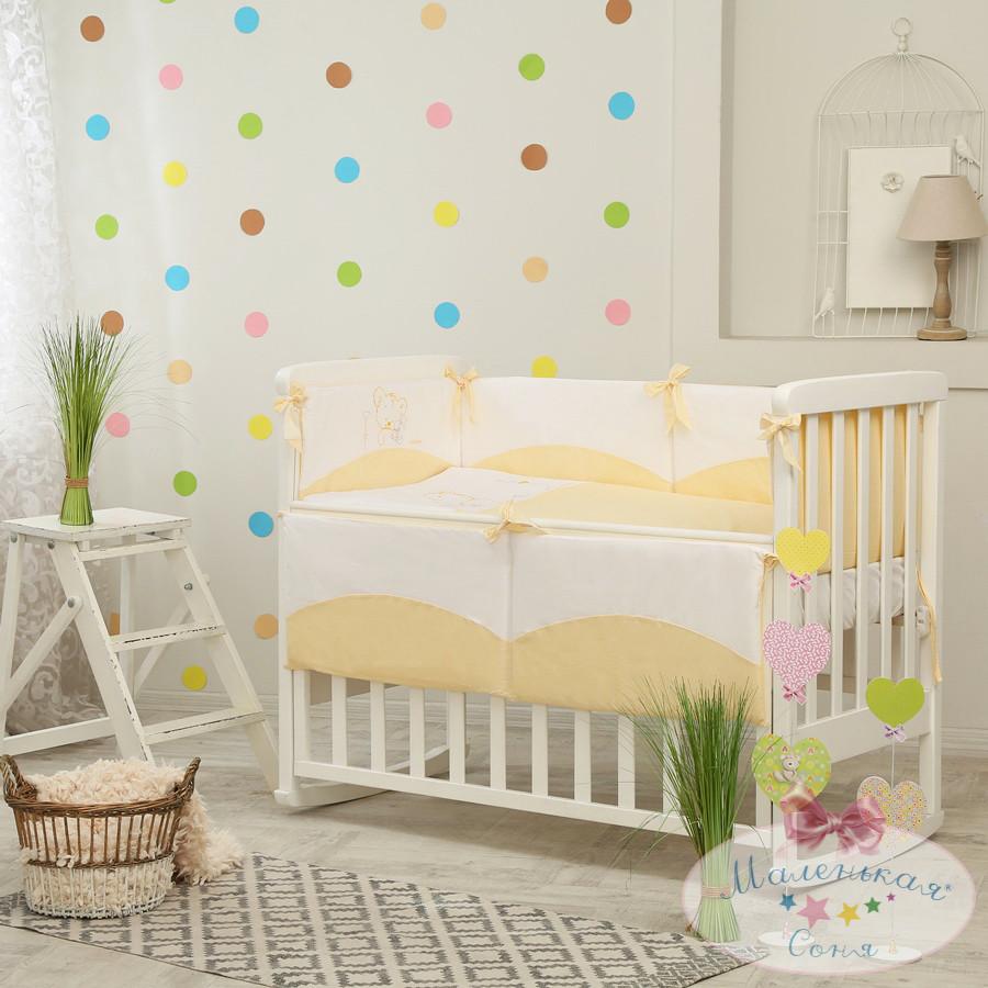 Детский постельный комплект Tutti (Желтый, 6 элементов), Маленькая Соня