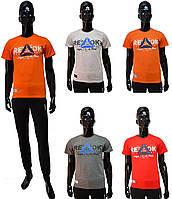 Мужская футболка Reebok 107-07 оранжевого цвета