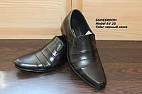Кожаные мужские туфли классика AV35
