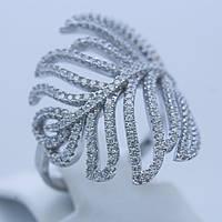 Серебряное кольцо ветка
