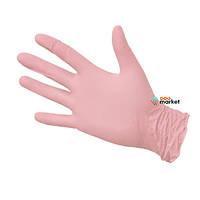 Одноразовая одежда Fiomex Перчатки нитриловые Fiomex M premium неопудренные розовые 100 шт