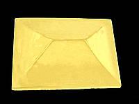 Крышка на кирпичный забор «КИТАЙ» 310х430 мм. цвет жёлтый, вес 16 кг