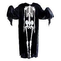 Костюм скелета (накидка) на хэллоуин  - оригинальный аксессуар для вашего стиля!