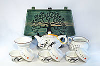 "Набор для чаепитий ""Посуда + Чабань"" #3 Чабань, чайник, 6 пиал, чахай, сито, коробка, фото 1"