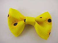 Бантики Желтые с ромашками
