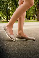 Туфли Т-413 натуральная кожа бежевая