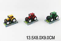 Трактор инерц. 9970 1470914 288шт2 3 цвета, под слюдой 13,589см