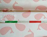 "Ткань хлопковая Mist ""Рыба-кит"", цвет розовой пудры ( № 366м), фото 5"