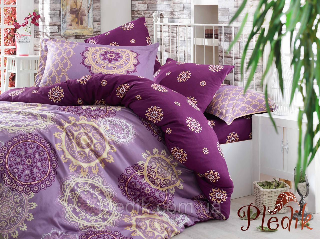 Комплект постельного белья 200х220 HOBBY Exclusive Sateen Ottoman фиолетовый