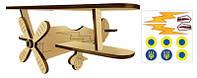 Деревянный Самолет 3D Биплан 2