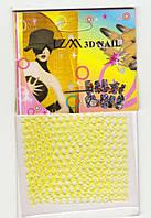 Кружева 3D nail лимон
