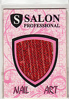 Кружева Salon Professional красное с пайетками