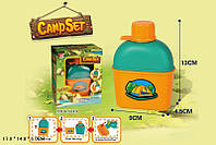 Игровой набор CAMP SET FDE816 96шт2 Юный турист, фляжка с кружкой, в кор 14113 см