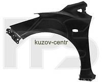 Крыло переднее левое без отверствия для молдинга с отверствием повторителя поворота Mazda,Мазда 2 07-11