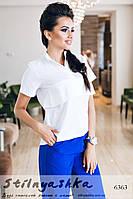 Женская рубашка поло белая
