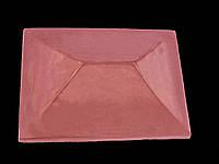 Крышка на кирпичный забор «КИТАЙ» 450х450 мм. цвет красный, вес 25 кг