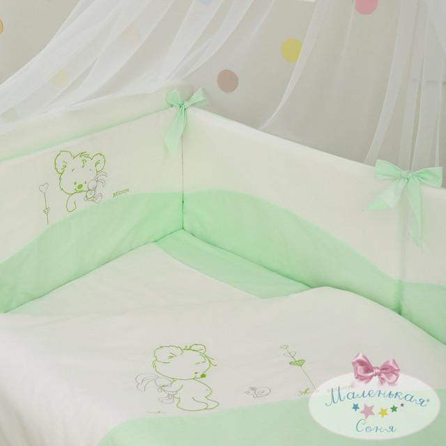 Одеяло и подушка Tutti зеленый