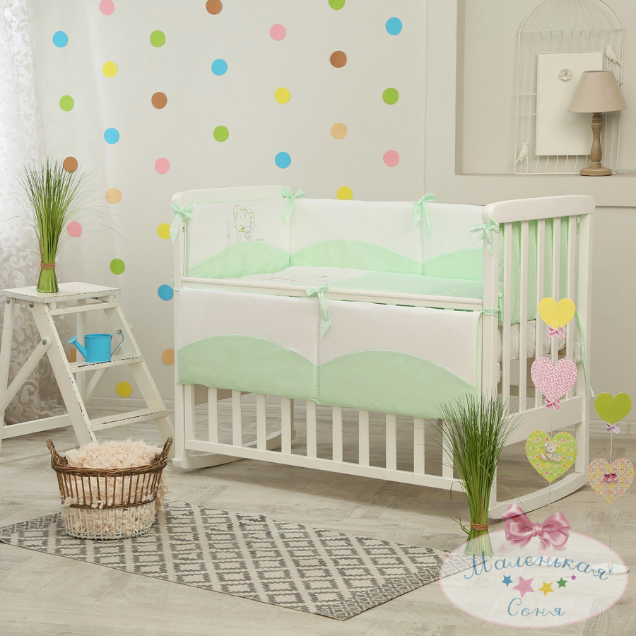 Детский постельный комплект Tutti (Салатовый, 6 элементов), Маленькая Соня