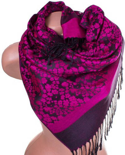 Потрясающий женский двусторонний палантин из пашмины 170 на 67 см ETERNO ES2707-12-2 розовый