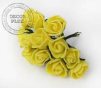 Роза латексная 1,5см. Желтая
