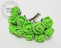 Роза латексная 1,5см. Салатовая