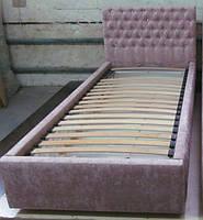 Детская кровать для девочки со стразами, детская кровать с каретной стяжкой в Украине