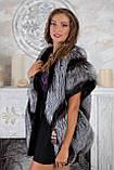 """Жилет из чернобурки и норки """"Диана"""" silver fox fur vest gilet, фото 2"""