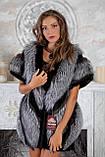 """Жилет из чернобурки и норки """"Диана"""" silver fox fur vest gilet, фото 3"""