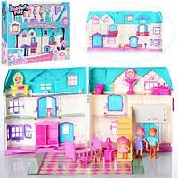 Кукольный дом с мебелью и фигурками на батарейках