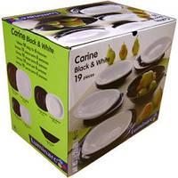 Сервиз столовый Luminarc Carine Black&White 19 предметов стеклокерамика (2381D/Т1491)