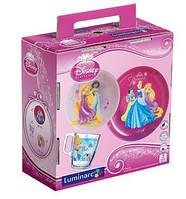 Набор для детей Luminarc Disney Princess Royal 3 предмета ударопрочное стекло (J3997)