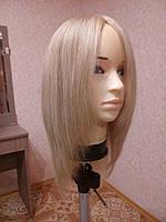 Женский парик из натуральных славянских волос, блонд. Имитация кожи головы.