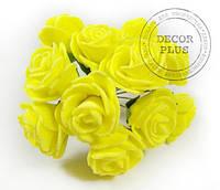 Роза латексная 2-2,5см. Желтая