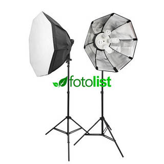 Набор постоянного студийного света Mircopro FL-305-2 KIT Ø60 см, 8х28w, 1120 Вт, 5500К