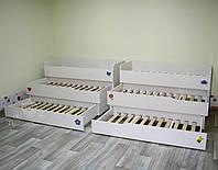 Трехъярусная выдвижная кровать для Д/С , фото 1