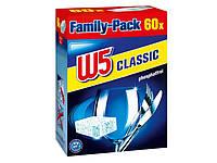 Таблетки для посудомоечных машин W5 Family-Pack Geschirrspültabs Classic 60 шт без фосфатов