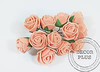 Роза латексная 2-2,5см. Персик