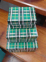 Коробка подарочная прямоугольная в клеточку