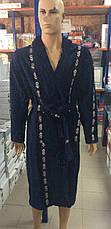 Мужской халат Доллар темно синий, фото 2
