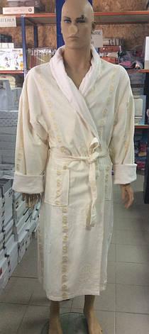 Мужской халат Доллар белый, фото 2
