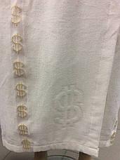 Мужской халат Доллар белый, фото 3