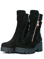 Замшевые зимние ботинки, фото 1
