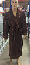 Мужской халат Евро коричневый, фото 2