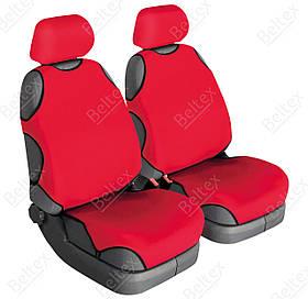 Майки на сиденья Beltex Cotton передние красные (2шт/комп) Без подголовников 11610